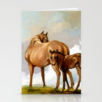 Mare And Foal Stationery Cards