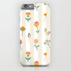 Paper Cut Flowers Slim Case iPhone 6s