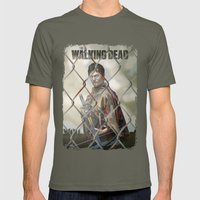The Walking Dead Mens Fitted Tee Lieutenant SMALL