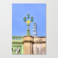 Westminster Bridge And T… Canvas Print