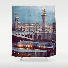 Paris lights. Shower Curtain