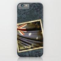 Grunge sticker of Australia flag iPhone 6 Slim Case