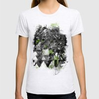Abstractness Womens Fitted Tee Ash Grey SMALL