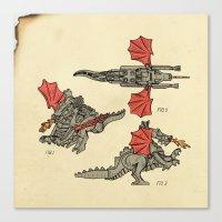 Lego Dragon Canvas Print