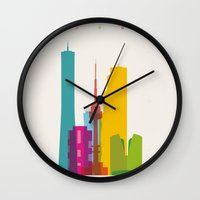 Shapes of Seoul accurate to scale Wall Clock