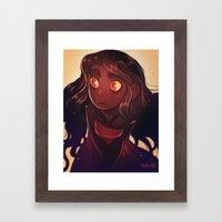 Fire Eyes Framed Art Print
