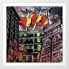 Working for the city... Art Print