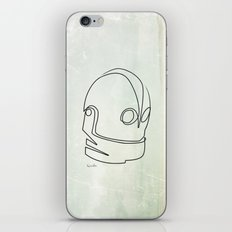 One line Iron Giant iPhone & iPod Skin