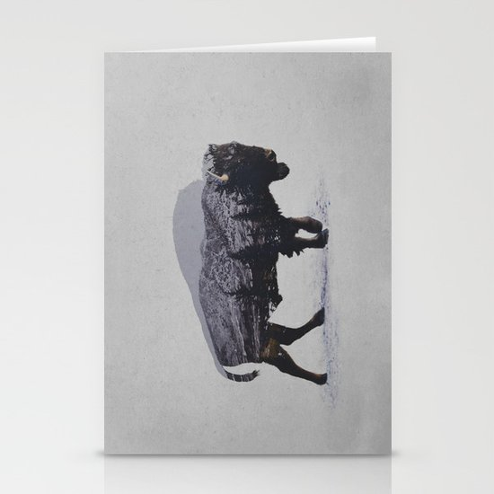 The American Bison Stationery Card