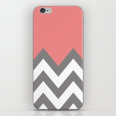 CORAL COLORBLOCK CHEVRON iPhone & iPod Skin