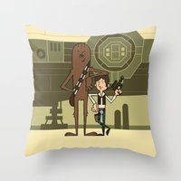 EP4 : Han & Chewie Throw Pillow