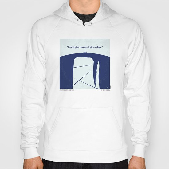 No267 My MOBY DICK minimal movie poster Hoody