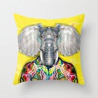 ELEPHAS Throw Pillow