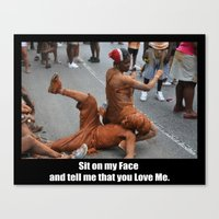 Sit On My Face - Poster Canvas Print