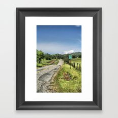 No Turn Around Beyond This Point Framed Art Print