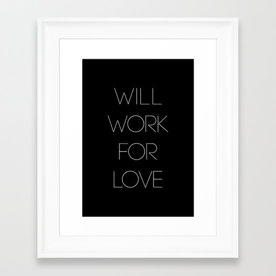 i will. Framed Art Print