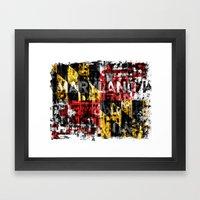 Maryland Flag Print Framed Art Print