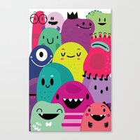 Pile of awesome Canvas Print