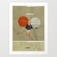 Jukebox Hero   Collage Art Print