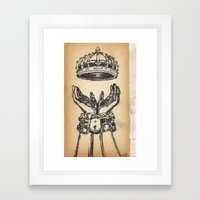 hands chains crown Framed Art Print