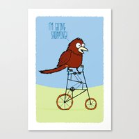 I'm Going Shopping Canvas Print