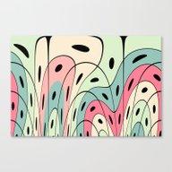 Wavy Pastel Shapes Canvas Print