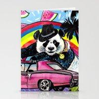 Miami Panda Stationery Cards