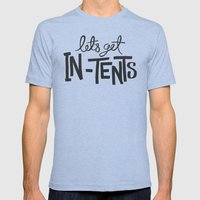 Let's Get In-Tents Mens Fitted Tee Tri-Blue SMALL