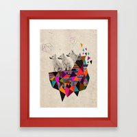 The Night Playground By … Framed Art Print