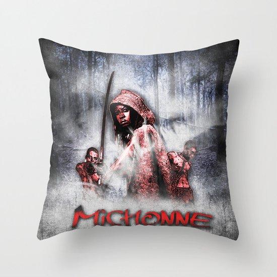 Michonne Throw Pillow