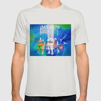 MS 0079 Mens Fitted Tee Silver SMALL