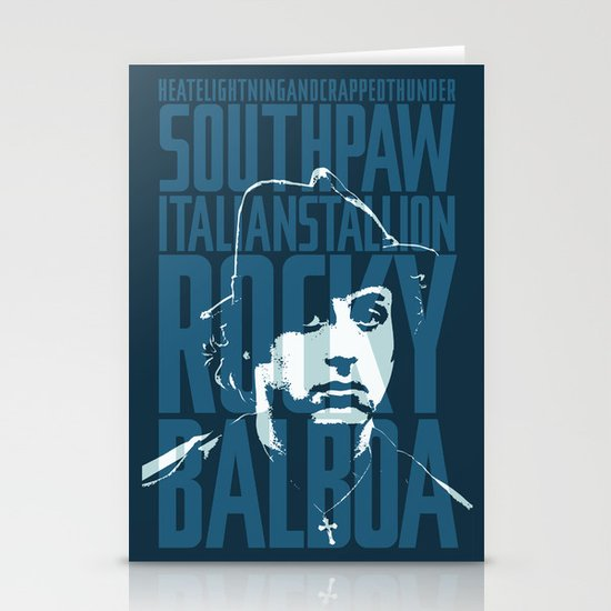 Rocky Balboa Minimal Vector Film Poster Stationery Card