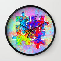 Autism Colorful Puzzle P… Wall Clock