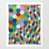 Honeycomb Art Print