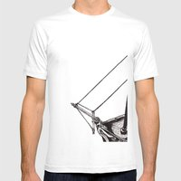 Gently Guided Ship Mens Fitted Tee White SMALL