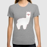The Alpacas II Womens Fitted Tee Tri-Grey SMALL