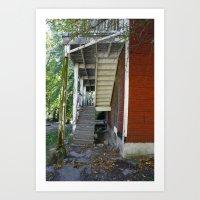 Rickety Staircase Art Print