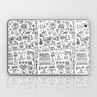 Triangle Doodles Laptop & iPad Skin