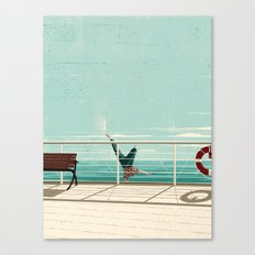 Man Overboard Canvas Print