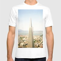 Transamerica Pyramid, San Francisco Mens Fitted Tee White SMALL