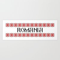 Romania Nation Text Art Print