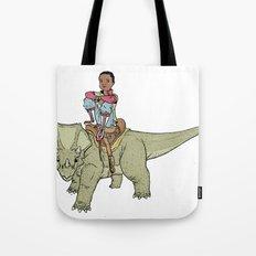 A Boy and his Dinosaur Tote Bag