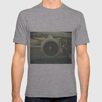 Vintage Airplane Engine  Mens Fitted Tee Athletic Grey SMALL