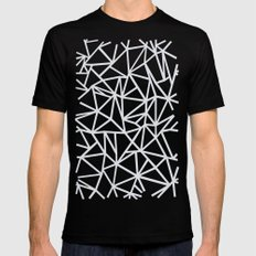 Ab Outline Salt Water Mens Fitted Tee Black SMALL