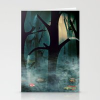 The Woods at Night Stationery Cards