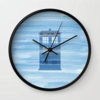 TARDIS Under The Sea - D… Wall Clock