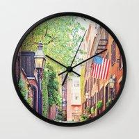 Historic Acorn Street, B… Wall Clock