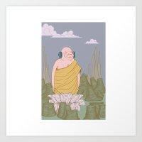 Music Monk Art Print