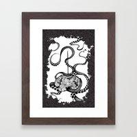 Octopus Munny Poster Framed Art Print