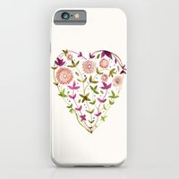 GARDEN HEART - PURPLE iPhone 6 Slim Case